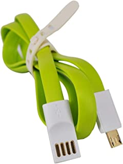 Vmax Cable Micro USB Rubber, Magnetic 1.2 M - 14454 - Green