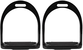 HEEPDD Safety Stirrups for Saddle Lightweight Reflex 3D Wide Track Hand-Polished Aluminum Die Casting Colored Paint Horse Stirrup