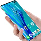 WENTING P48pro Smartphone, Teléfono Móvil HD, 8 + 512 GB, Batería De 5000 Mah, Cámara Dual De 16 MP + 32 MP, Resolución 1440 × 3200, Doble SIM, Identificación Facial - Azul