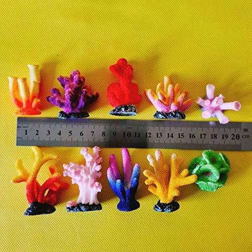 Nieuwe ~ 10Pcs / koralen/Miniaturen/mooie schattige/fee tuinkabouter/mos terrarium decor/ambachten/bonsai/DIY benodigdheden: 10 koralen