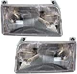 Headlight Assembly Compatible with 1992-1996 Ford F150 F250/1992-1997 Ford F350 Halogen Passenger and Driver Side