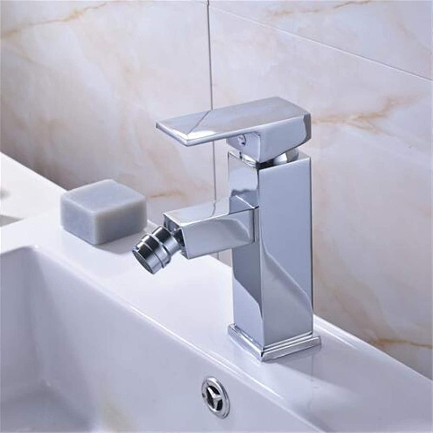 Taps Kitchen Faucet Bathroom Taps Faucet Waterfall Tappolished Chrome Single Lever Bathroom Bidet Faucet Deck Mounted Square Mixer Taps Women Use Faucet