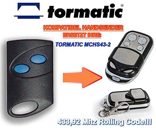 TORMATIC MCHS43-2 kompatibel handsender, 4-kanal ersatz sender, 433.92Mhz rolling code. Top Qualität ersatzgerät!!!