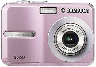 Samsung S760 Digitalkamera (7 Megapixel, 3 Fach Opt Zoom, 6,1 cm (2,4 Zoll) Display) pink