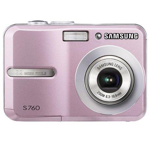 Samsung S760 Digitalkamera (7 Megapixel, 3-Fach Opt Zoom, 6,1 cm (2,4 Zoll) Bildschirm) pink