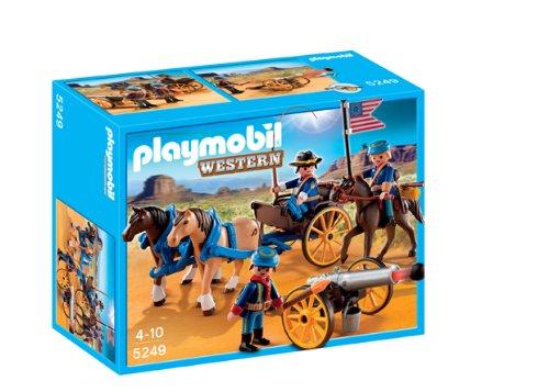 PLAYMOBIL - Soldados Americanos con cañón, Figuras de...