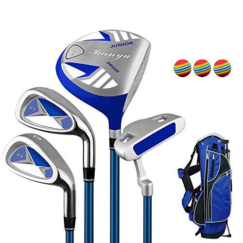 Golfschläger Kinder Golf Anfänger Golfschläger Set Golf Putter Übungsschläger Set für 3-12 Jahre alte Kinder, Kinder rechte Hand verwendet Golfschläger Set Vielseitiger und zuverlässiger Sch