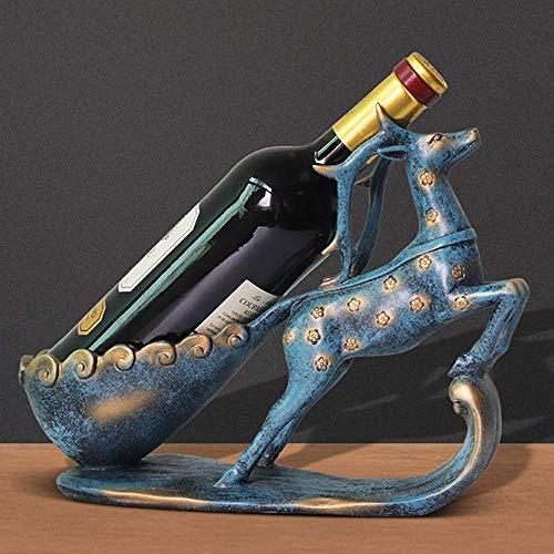 CMMT Soporte de Vino Moderno Europeo Vino Estante Vino Gabinete Adornos Artesanía Regalo Creativo Hogar Sala Adornos