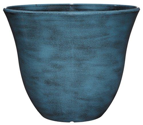 Classic Home And Garden Honeysuckle Planter, Patio Pot, 13' Blue Jean
