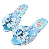 YOSICIL Disfraz Infantil Juego de Zapatos de Princesa Elsa Frozen Deluxe Zapatillas de Princesa Sofía con Tacon Alto Sandalias de Princesa para niñas