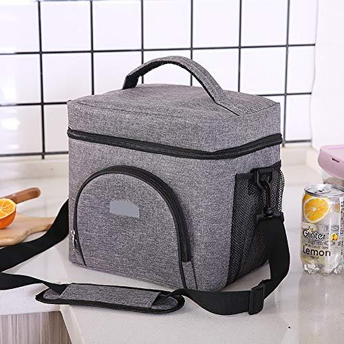 ZJTA Picknick Lunch Rugzak, Draagbare Warmtebehoud Fresh Bag voor Camping BBQ Familie Outdoor Activiteiten, Pure Kleur Schouders Waterdicht Ijs Pack