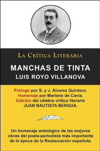 Manchas De Tinta, Luis Royo Villanova, Colección La Crítica Literaria por el...