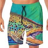 N \ A Brook Herren-Badeshorts, zum Fliegenfischen, mit Tasche, mehrfarbig, XL