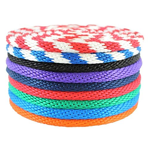 """SGT KNOTS Solid Braided Polypropylene Derby Rope - Multifilament Rope for Boating, Docks, Crafting (1/4"""" x 25ft, Black)"""