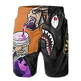 Bape Men's White Beach Shorts Fast Dry Swim Trunks Water Shorts...