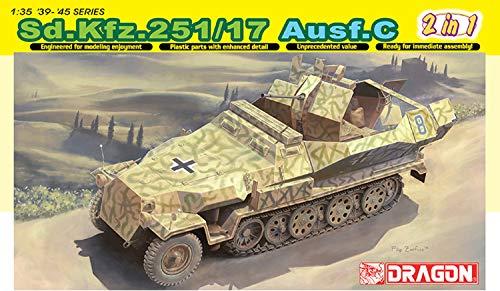 Dragon Models 1/35 Sd.Kfz. 251/17 Ausf.C/Command Version Vehicle Model Building Kit