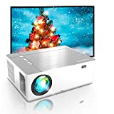 Proyector 4K, 7200 Brillo 1080p Nativo, Full HD Proyector 5D Keystone 50% Zoomout, Proyector Exterior, Soporta Dolby, Compatible with TV Stick, Android, iOS, HDMI, Parrot I