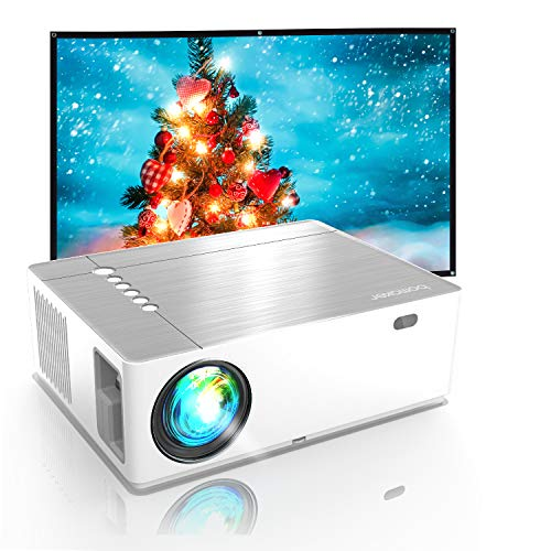 Vidéoprojecteur, BOMAKER 7200 Lumens Projecteur LED Outdoor Movie, 5D ± 50 ° Correction Trapèze avec Zoom Video Projecteur Full HD 1080P Native, Rétroprojecteur 4K Soutie 300 ' pour Switch,PS5,PPT
