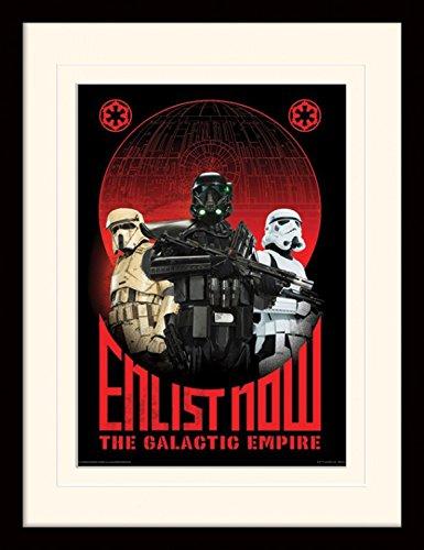 1art1 Star Wars - Rogue One, Enlist Now Gerahmtes Bild Mit Edlem Passepartout | Wand-Bilder | Kunstdruck Poster Im Bilderrahmen 40 x 30 cm
