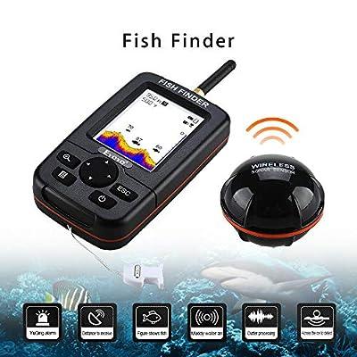Wireless Fish Finder, Portable Fish Finder,Sonar Sensor Depth Finders for Boat Fishing Kayak Ice Fishing Sea Fishing Canoes Fishing