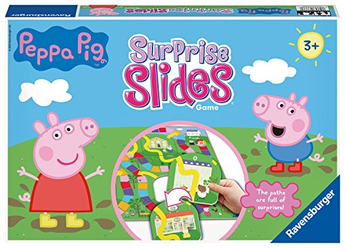 Ravensburger 21383 Peppa Pig Surprise Slides Board Kids Age 3 Years and Up-A Race to The Finish Game