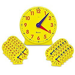 Learning Resources Classroom Clock Kit, Clock for Kids, Learning to Tell Time, Clocks for Teaching Time, Ages 5+,