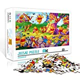 Difficult Adults Jigsaw Puzzle 500 Pieces Winnie the Pooh Printing Puzzle Pieces Adults Games Wooden Jigsaw Puzzles Toys Family Photo Frame Gifts 52x38cm