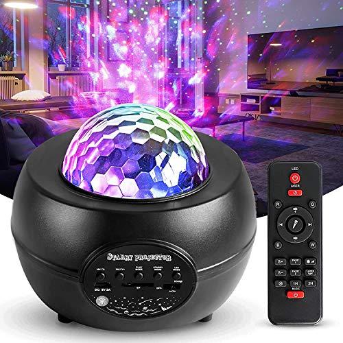 Proyector Estrella, Lámpara de Nocturna con Bluetooth/Temporizador/Remoto, Proyector de Luz Estelar para Niños/Decoración/Regalo