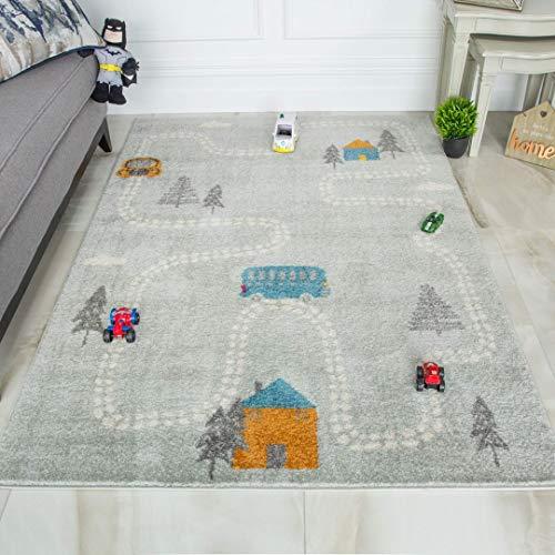 The Rug House DIVERTIDAS Alfombras educativas con los mapas de los pa/íses del mundo y de los oc/éanos 95x200cm