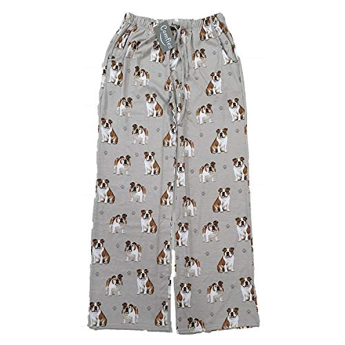 E & S Imports Women's Bulldog Dog Lounge Pants - Pajama Pants Pajama Bottoms - X-Large