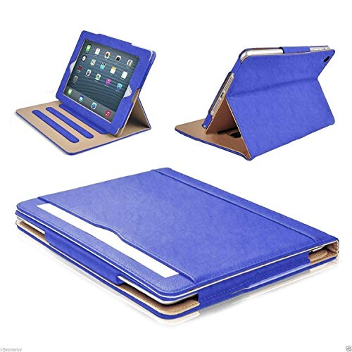S-Tech iPad 5th 6th Generation Case 9.7 Inch Smart Cover Soft Leather Wallet Magnetic Sleep/Wake Flip Stand for Apple (Model # A1822 A1823 A1893 A1954) 2017 2018 (Blue) -  ipad-5th6th-sl-cases