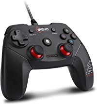 SIGNO USB 2.0 Wired Gaming Controller Plug Play Gamepad Joystick for PC/Laptop Computer(Windows XP/7/8/10) & PS3 & Android & Steam (GP-680)