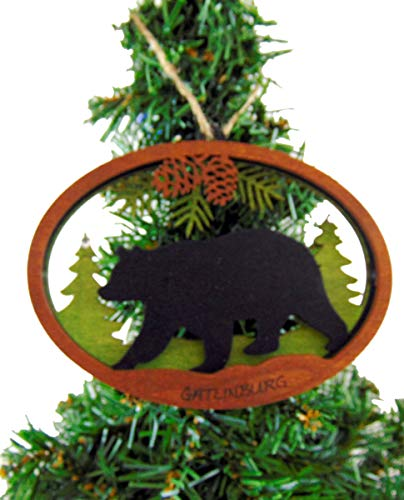 Gatlinburg Tennessee Christmas Tree Ornament Wooden Gift Boxed