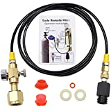 Upgrade CGA320 to TR21-4 Soda maker Co2 Tank Cylinder Direct Adapter with 60 inches High-Pressure...