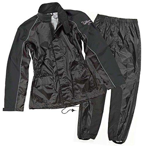Joe Rocket RS-2 Men's Motorcycle Rain Suit (Black, Large)