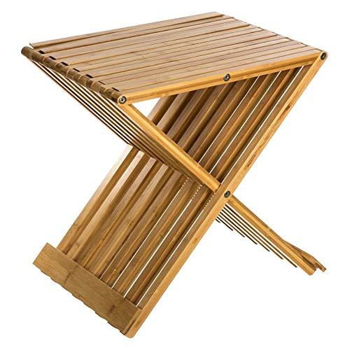 AC-Déco Chaise Pliante - 40 x 32 x 45 cm - Bambou - Beige