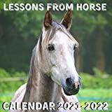 Lessons From Horse Calendar 2021-2022: April 2021 - June 2022 Square Photo Book Monthly Planner Mini Calendar With Inspirational Quotes