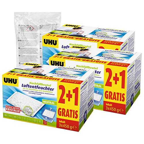 10x UHU 47135 Luftentfeuchter Nachfüllbeutel 450g Promopack 2 plus 1