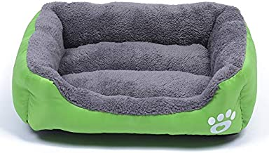 YUCHAO Candy Color Four Seasons Genuine Warm Pet Dog Kennel Mat Teddy Dog Mat, Size: S, 43×32×10cm (Coffee) (Color : Green)