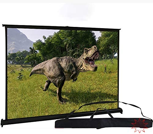 Projection Screen, Floor-Pull Projector Screen, Punch-Free And Convenient 4K High-Definition Light-Resistant Stretchable Mobile Projection, Small Desktop Screen for Outdoor Home Business Meetings,Whit