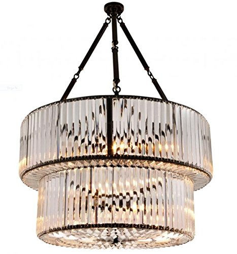 Casa Padrino Luxus Hängeleuchte - Luxus Kristallglas Leuchte