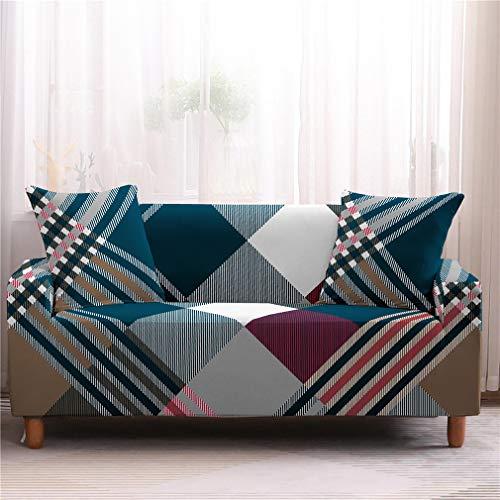 wjwzl Sofabezug für Sofa / Bett, rutschfest, elastisch, für Wohnzimmer, Schlafzimmer, 2 C