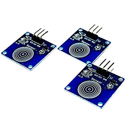 AZDelivery 3 x TTP223B Digitaler Kapazitiver Touch Sensor, Switch Modul für Arduino inklusive eBook!