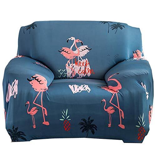 iShine sofá überwürfe funda de sofá sin reposabrazos con Stretch elástico funda de sofá Slip Cover sofá protectora en diferentes tamaño y color 1 Sitzer für Sofalänge 90x140cm azul oscuro
