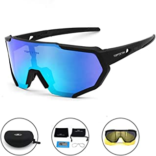 9745489fa189 Polarized Sports Sunglasses for Men Women Cycling Running Driving