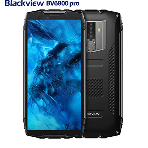 Blackview BV6800 Pro - 5.7 inch FHD 18:9 Screen Military Standard Smartphone,IP68 Waterproof Shockproof Dustproof,Octa Core 4GB+64GB, NFC,OTG,16MP Camera,Face ID(Black)
