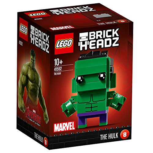 LEGO Brickheadz - The Hulk, Juguete de Construcción, Figura Decoratica del Vengador del Universo Marvel (41592)