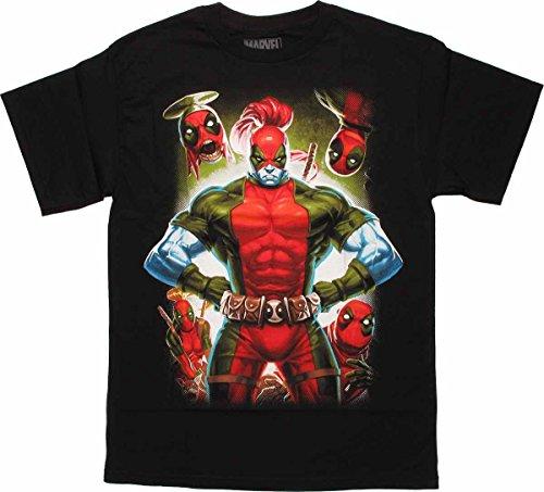 Marvel Les Hommes de Deadpool Ont Besoin d'un T-Shirt de Bronzage, Noir, XX-Grand