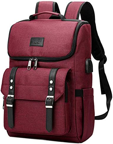 Vintage Backpack Travel Laptop Backpack with usb Charging Port for Women Men School College product image