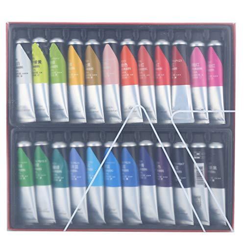 Zestaw farb akrylowych, 24 kolory, wodoodporny, nietoksyczny, do samodzielnego montażu na ścianie, tkanina ceramiczna, najlepszy dla początkujących, profesjonalnych artystów